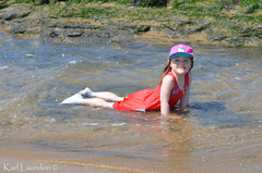 I'm wet (karllaundon) Tags: family sea summer sun cute beach fun happy seaside day child laugh northeast rockpool redcar