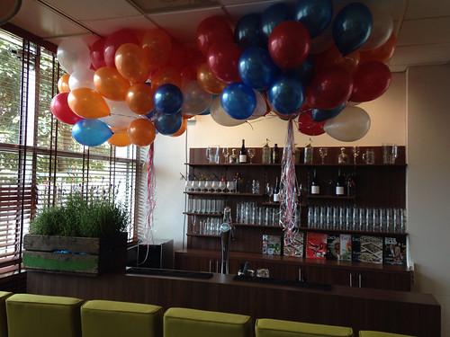Heliumballonnen Rood, Wit, Blauw, Oranje Erasmus Universiteit Rotterdam