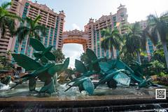 Atlantis - Flying Fish (paulo007) Tags: morning sea fish tower fountain statue coral clouds sunrise island flying paradise surf atlantis bahamas