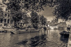 (McQuaide Photography) Tags: holland building netherlands monochrome amsterdam sepia architecture canon eos mono europe nederland wideangle dslr toned gebouw uwa wideanglelens ultrawideangle 100d 1018mm mcquaidephotography
