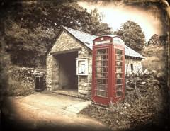 A very special phone box (Squatbetty) Tags: lakedistrict cumbria phonebox withnaili bampton