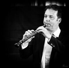 The oboe player (PortSite) Tags: bw music white black holland art netherlands nikon zwartwit nederland muziek classical portret zwart wit hobo zw 2014  portsite klassieke d3s  hoboist
