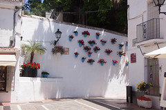 Flower Pots on the Wall in Marbella, Spain (ChrisGoldNY) Tags: travel flowers blue architecture canon poster design spain europa europe mediterranean forsale andalucia espana spanish viajes posters albumcover walls bookcover charming bookcovers marbella albumcovers licensing flowerpots chrisgoldny chrisgoldberg chrisgold chrisgoldphoto chrisgoldphotos