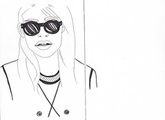 image (SabinaEinstein) Tags: moleskine sunglasses fashion illustration sketch pens