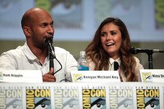 Keegan-Michael Key & Nina Dobrev (Gage Skidmore) Tags: california michael san key comic cops lets diego center rob convention be keegan nina damon con 2014 wayans riggle dobrev