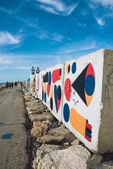Arte al Porto 1.0 (m0n0n0ke_hime) Tags: italy rock harbor nikon italia porto roccia rocce murales colori scogli sanbenedettodeltronto pitturemurali