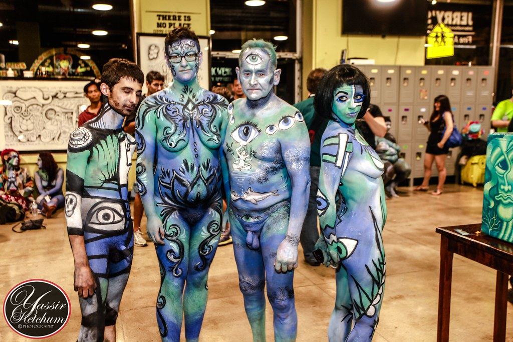 New York Body Paint Day 2014 (Yassir KetchuM) Tags: new nyc sculpture  newyork