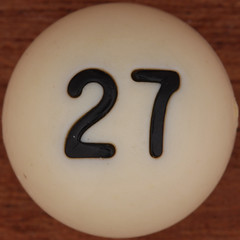 Bingo Ball Number 27 (Leo Reynolds) Tags: number squaredcircle lotto bingo 27 loto group9 housie housey groupnine numberset numberbingo houseyhousey xsquarex housiehousie xleol30x sqset109 xxx2014xxx