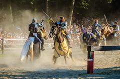 Swordplay on horseback (Hendricks_NY) Tags: horses ny newyork august medieval demonstration riding knights lance sword faire renfaire orangecounty fighting oc sir joust renaissance 2014 nyrenaissancefaire