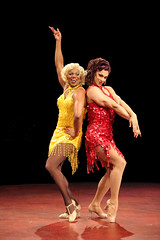 (L to R) Thay Floyd (Mercedes) and Steve Schepis (Hanna) in La Cage aux Folles, produced by Music Circus at the Wells Fargo Pavilion August 19-24, 2014. Photos by Charr Crail.