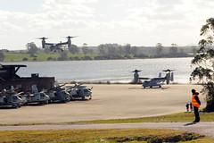 USS America (U.S. Embassy Montevideo) Tags: usmc marines naval usnavy ussamerica mv22osprey defenseattach spmagtf julissareynoso cooperacinendefensa armadadeuruguay f35bjointstrikefighter