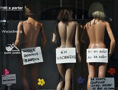 window-(un)dress(ed) (derpunk) Tags: girls summer en france ass window shop nude back women parties nous vacance sommes