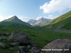 P1160558 Day-5 Trek from Gadsar to Satsar - Morning view from Gadsar Camp at 7-15am on 30-Jul-2014 (ks_bluechip) Tags: india trek greatlakes kashmir jk vishansar gangabal gadsar satsar kishansar zachpass