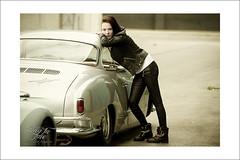 hey dude.... (Emmanuel DEPARIS) Tags: girl up car nikon pin voiture fille pinup emmanuel karmann d4 deparis