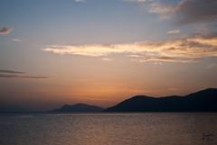 Lines of the horizon (Kostis Tatakis) Tags: sunset sea sky beach twilight nikon village sundown horizon greece vacations  evia rovies nikond  nikond80