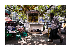 streets of Yangon (jrockar) Tags: life street city travel sleeping people urban 3 man men guy canon walking photography shrine shot market mark buddha candid yangon burma iii streetphotography documentary snap human madness instant l 5d myanmar moment everyday ef f4 1740 mk rangoon ordinary subtle statute f4l ordinarymadness