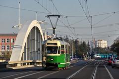 Kostal 102Na #71 MPK Pozna (3x105Na) Tags: 3 tram poland polska 71 most strassenbahn mpk rocha pozna tramwaj kostal objazd ksiniczka 102na mostwrocha mpkpozna