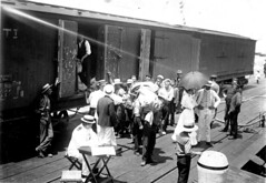 Unloading mail at Outer Harbor, 1914 (State Library of South Australia) Tags: mail wwi worldwari adelaide ww1 southaustralia worldwar1 outerharbor statelibraryofsouthaustralia samemory centenaryofanzac