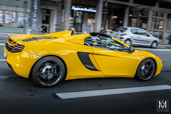 Mclaren MP4-12C (*AM*Photography) Tags: auto english car sport yellow volcano nikon automobile side montecarlo special exotic mclaren spotted supercar mp4 roadster 12c d3200 worldcar worldcars