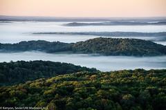 Misty Valley #aerial (NetAgra) Tags: morning mist fog wisconsin clouds sunrise nikon aerial farmland agriculture sweetcorn irrigation wisconsinriver contours aeriallandscape nikond7000