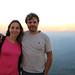 Roy e Mi, pôr-do-sol no Topo do Mundo em BH