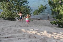 Sand dunes (vicki 1718) Tags: girls ontario canon fun sand moments dunes westlake aug sandbanks t3i 2014 aug27 runningdownhill 225365 243365 esproject365