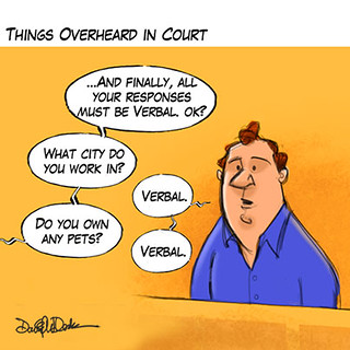 Things Overheard in Court