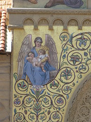 Stanford Church (shaire productions) Tags: building church window architecture painting photo arch exterior decorative religion decoration picture architectural photograph stanford decor imagery