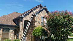 Exterior Painting with wood replacement in Benbrook TX 76126