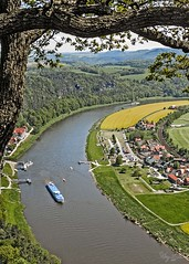 The Elbe from Above (Sugardxn) Tags: cruise photoshop river viking elbe vikingrivercruise sugardxn garypentin