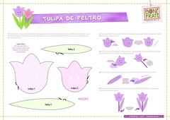 Flores • Tuilpa de Feltro (PAP com molde) (Ateliê Bonifrati) Tags: flowers flores cute diy craft felt borboleta feltro tutorial pap molde tulipa joaninha florzinha passoapasso bonifrati