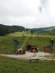 Ski resort @ Hike to Semnoz (*_*) Tags: summer mountain lake france annecy forest europe hiking july lac hike savoie massif hautesavoie 2014 rhonealpes randonnee bauges semnoz