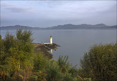 Isle of Mull 2014 - Tobrmory Lighthouse (-terry-) Tags: isleofmull scotland argyll highlands islands island reflection reflectivewater water lighthouse mull