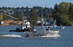 Marine traffic (drmack2) Tags: sea salmon x full toss gail tug winds torque imp tow fraserriver tosser newwestminster throwback