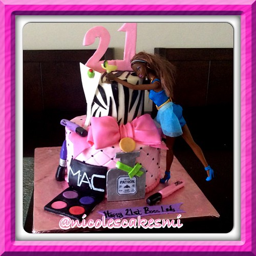 Enjoyable Drunk Barbie 21St Birthday Cake Done In Buttercream With Fondant Funny Birthday Cards Online Bapapcheapnameinfo