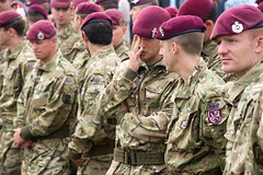 Modern day English paratroopers