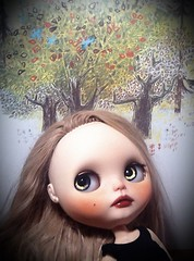 Blythe-a-Day October#2: Those Fall Colours: Alexandrina in Repose...