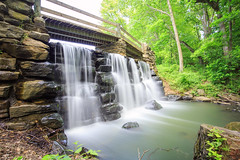 Waterfall (Jemlnlx) Tags: park county new york bridge lake 3 ny water canon eos is waterfall woods stream long state mark iii filter nd shutter l 5d brook usm polarizer yonkers ef f4 circular nys graduated density westchester hoya neutral tiffen nd400 1635mm gnd tibbetts ndx400