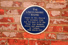 The Lincolnshire Rising (Richard Brothwell) Tags: stjameschurch louth lincolnshire canoneos70d richardbrothwell canon70d canonefs1022mmf3545usm efs1022mmf3545usm church churches parish blueplaque lincolnshirerising 1536 tyburn