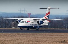 British Airways (Sun Air of Scandinavia) - Dornier Do328Jet - OY-NCU - Dortmund Airport (09/03/2017) (spottermarc) Tags: sun air scandinavia british airways ba baw ez sus aarhus oyncu dornier do 328 do328 jet do328jet serial number dtm edlw dortmund 21 airport aircraft taxiway taxiing landing take off airplane 3122 dbdxd n35sk d328 1999 cn ln canon 5d mark ii transport