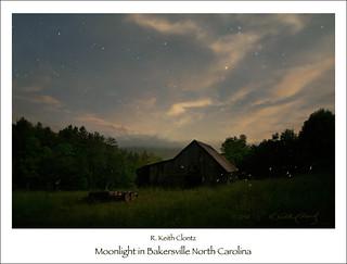 Moonlight in Bakersville North Carolina