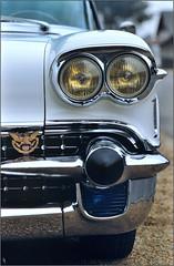 Concentration American Car Club - Le Mans années 80 - Cadillac Eldorado 1958 (PM Gaury) Tags: car nikon voiture cadillac eldorado mans le american 1958 fm circuit nikonfm américaine