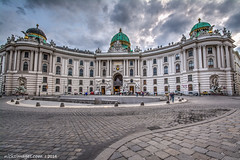 Hofburg Palace, Vienna, Austria (nicksimages.com) Tags: vienna wien old city travel building castle history monument statue museum clouds facade square austria town hall ancient gate europe european cityscape exterior view place outdoor famous president capital gothic sightseeing culture royal landmark palace panoramic historic rainy empire imperial historical residence hdr attraction austrian hofburg habsburg michaelerplatz hofburgpalace habsburger