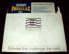 03 Mindscape - Parallax by Ocean (1986), Disk in Mindscape jacket (Ocean & Imagine Collection) Tags: ntsc parallax 1986 mindscape sensiblesoftware chrisyates oceansoftware jonhare