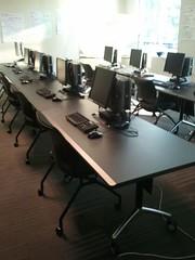 Custom Tilt Top Training Tables
