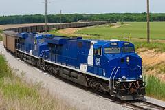 SVTX 1986 EVWR SS1 Macedonia IL 24 May 2014 (Train Chaser) Tags: es44ac evansvillewestern svtx svtx1986 evwrss1