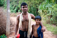 Father and Son at a village in Alleppey, Kerala, India (CamelKW) Tags: india village rice kerala ricepaddy backwater alleppey 2014