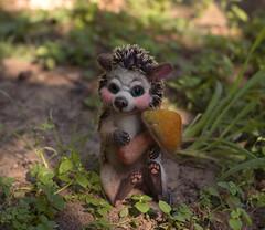 For adoption (olesyagavr) Tags: mushroom teddy felting hedgehog