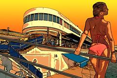 Nauticool Summer14 sunset (envisionpublicidad) Tags: summer illustration club puerto san sebastian bikini verano dibujo donostia ilustracion nautico 2014