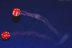 Dice (Giurlani Graphics) Tags: dice gambling motion blur speed photography high roll alta fotografia dadi velocità gioco rotolare dazzardo